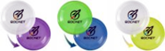 custom personalized frisbees in bulk, Translucent Green, Translucent Blue, Translucent Red, Translucent Purple, White, Red, Blue