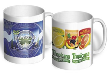 custom ceramic photo mugs 15 Oz. 11 Oz. wholesale w/ full color imprint