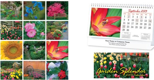 personalized garden flowers tent calenders wholesale