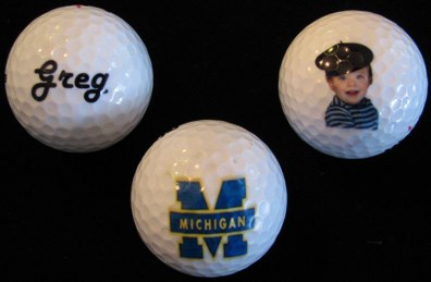 custom golf balls, personalized in full color -photo golf balls