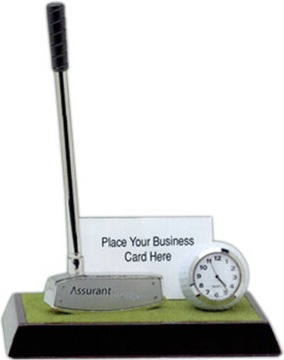 personalized golf clock custom engraved or printed