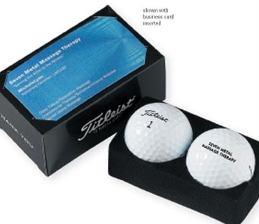 Personalized Titleist Golf Balls w/ Busines Card