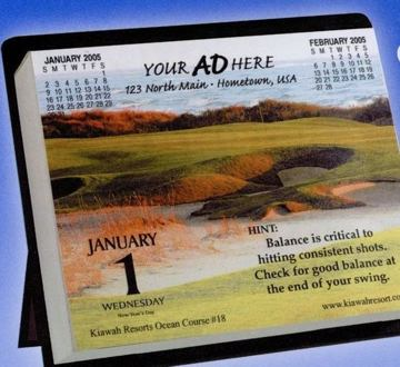 wholesale golf daily calendars in bulk, personalized