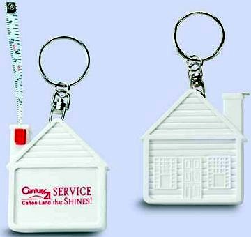 wholesale house tape measure keychain personalized