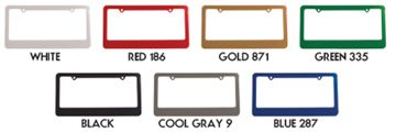 custom license frames colors