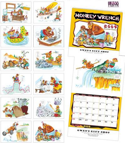 Monkey Humor Calendar Pages
