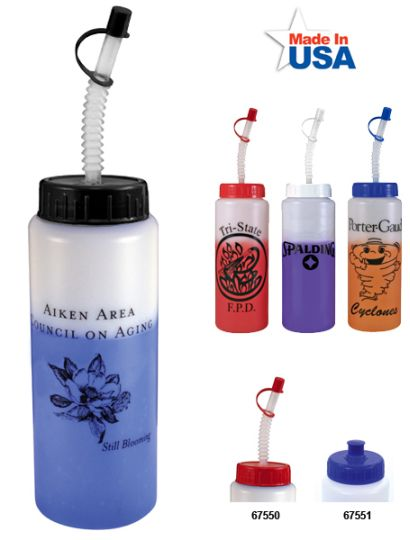 Wholesale Mood Sports Bottles Frosted White To Blue, Frosted White To Red, Frosted White To Purple, Frosted White To Orange