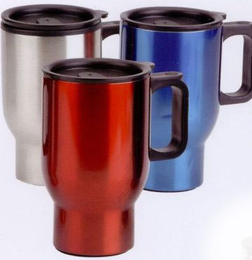 bulk personalized stainless steel mugs Blue, Red and Silver