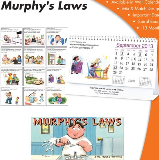 Personalized Murphy's Law Desk Calendars