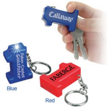 wholesale number one light keychain, personalized, blue, red