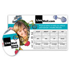calendar picture frame magnet with oval punch out
