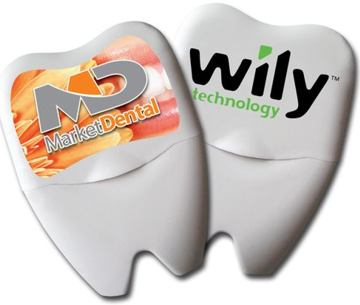 Custom Tooth Dental Floss Personalized in Bulk