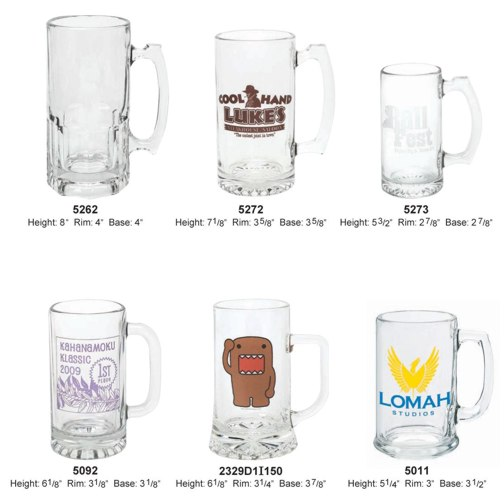 wholesale personalized glass beer mugs 16 oz 25 oz 34 oz