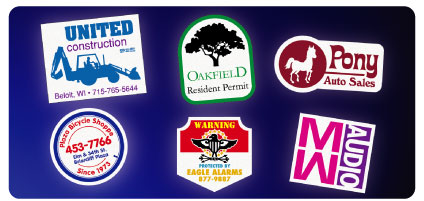 custom reflective stickers in bulk for safety signs