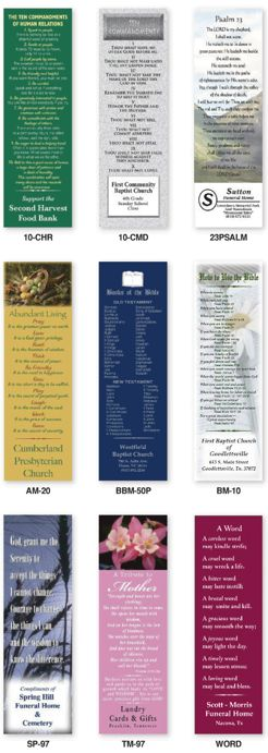 wholesale religious bookmarks in bulk, personalized in full color