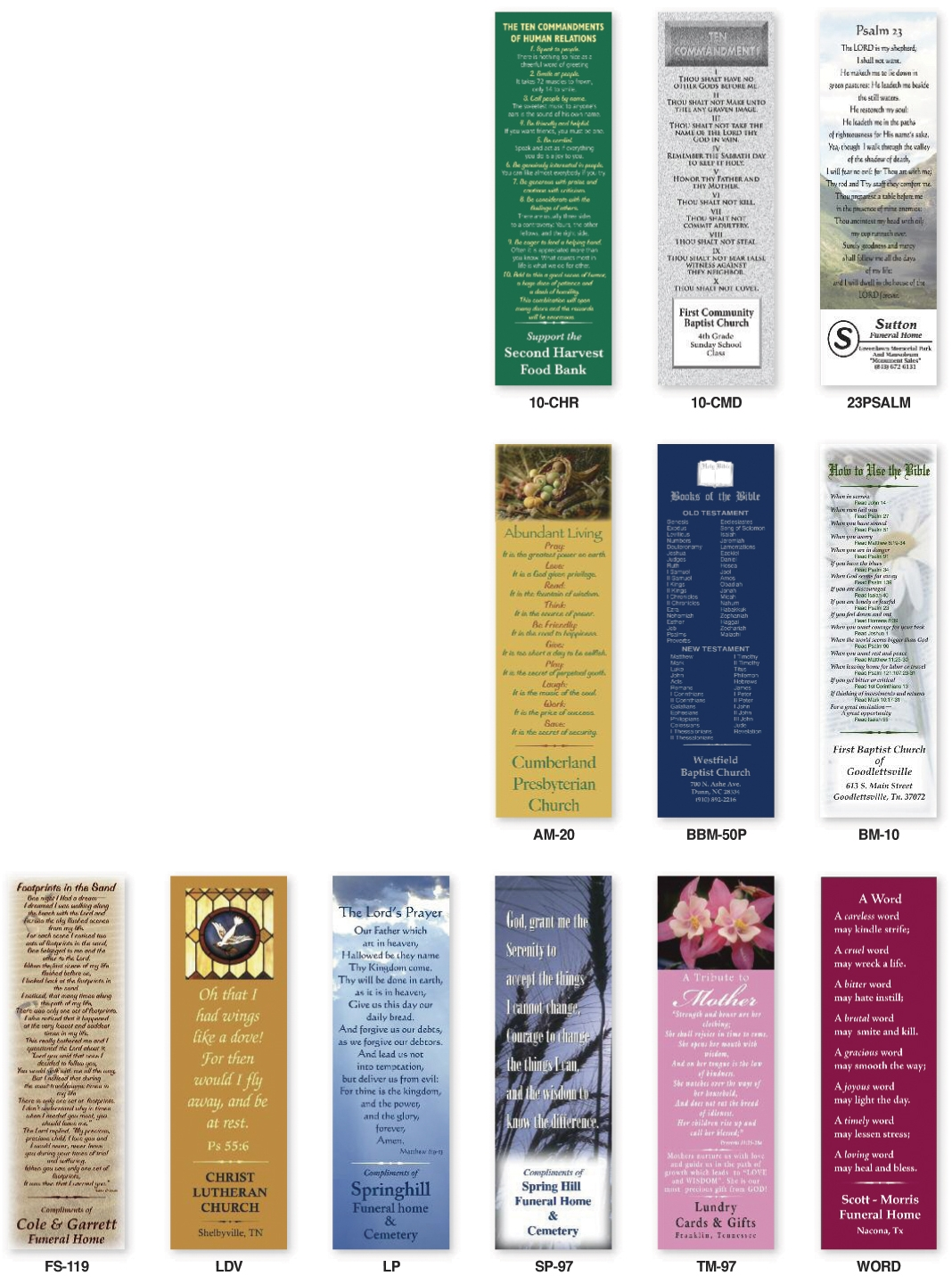 Custom Religious Bookmarks Personalized in Bulk. Promotional ...