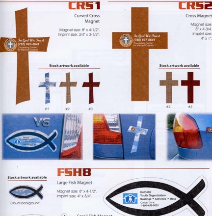 Custom Cross Car Magnets And Fish Car Magnets In Bulk Cheap - Custom car magnets cheap