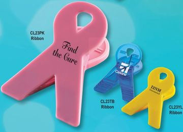 wholesale cancer awareness magnetic ribbon clips