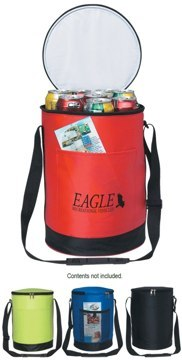 Custom Personalized Round Cooler Bags, Black, Royal Blue, Lime Green, Red