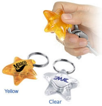 wholesale star flashlight key rings