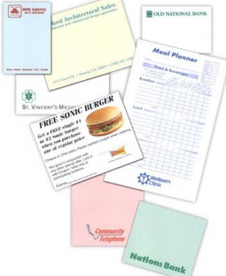 wholesale personalized sticky notes -adhesive notepads with custom imprint