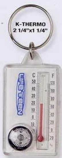 custom thermometer key tag and compass