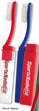 Bulk Travel Toothbrushes, Custom Imprinted