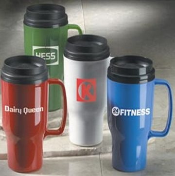 wholesale travel mugs, insulated, plastic
