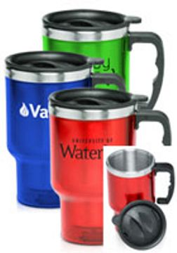 Wholesale Stainless Autol Mugs (Travel Mugs) Personalized Red, Blue, Green