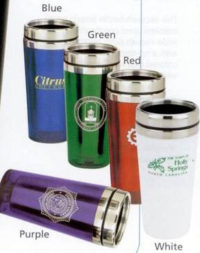 customized tumblers all stainless steel Red, Blue, Green, Yellow