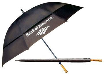 personalized vented double canopy umbrellas, all fiberglass