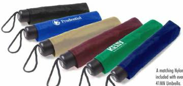 wholesale folding umbrella sleeves Royal Blue, Navy Blue, Black, Burgundy, Forest Green, Tan.