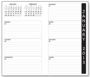 personalized weekly planner