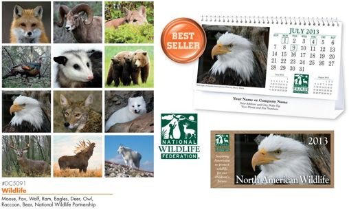 Personalized WildLife Desk Calendars