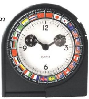 wholesale world clocks, personalized with custom imprint 24 cities