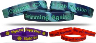 bulk debossed and printed wristbands