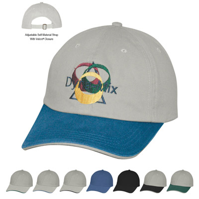 Custom Baseball Caps Personalized, Stone Crown and Visor with Green, Blue or Black Sandwich. Blue or Black Crown and Visor with Stone Sandwich.