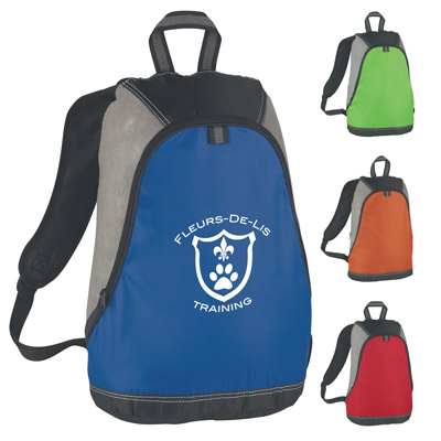 Custom Sports Backpack Personalized, Red, Royal Blue, Lime Green or Texas Orange