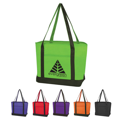 Custom Large Boat Totes Personalized, Royal Blue, Red, Purple, Lime Green, Black or Orange