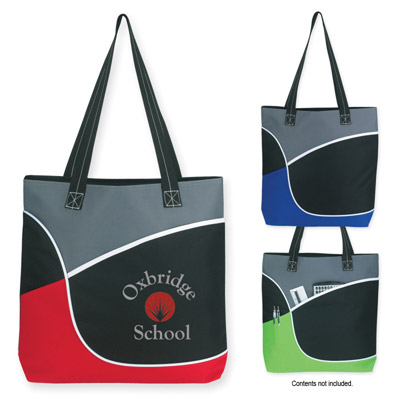 Custom Fashion Tote Bag Personalized, Lime Green, Red or Royal Blue