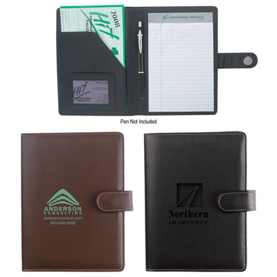 Custom Small Leather Portfolio Personalized in Bulk