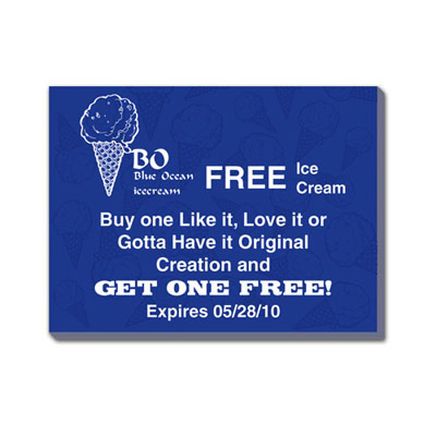 "Custom 4"" x 3"" Coupons"