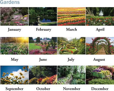 Custom Spiral Gardens Calendars Personalized in Bulk
