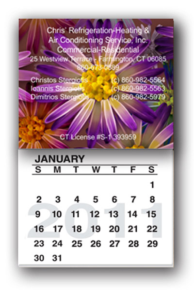 Custom Calendar Pad Magnets Personalized in Bulk