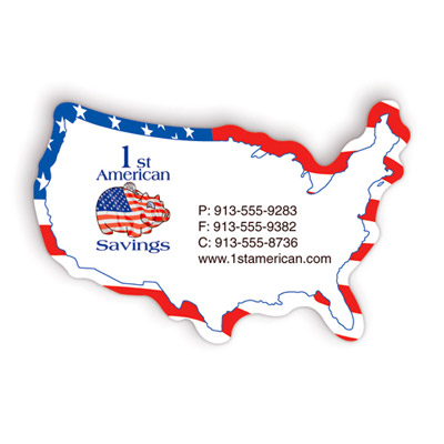 Custom USA Map Magnet Personalized in Bulk