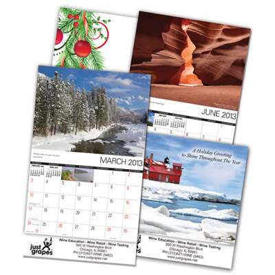 Custom Mini Wall Calendars Personalized in Bulk