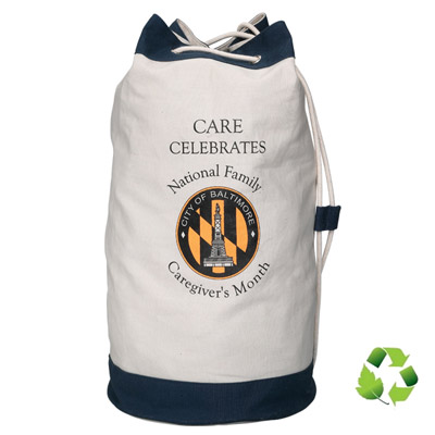 Cheap Economy Cotton Barrel Bags Custom Printed in Bulk