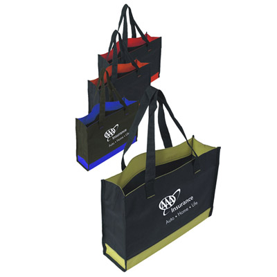 Cheap Gusseted 600D Totes Custom Printed in Bulk