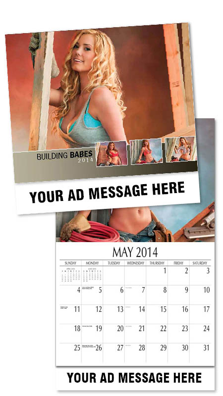 Wholesale Building Girls -Babes Calendars, Personalized with Custom Imprint