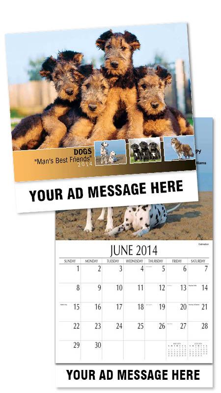 Custom Personalized Dogs Calendars In Bulk Promotional